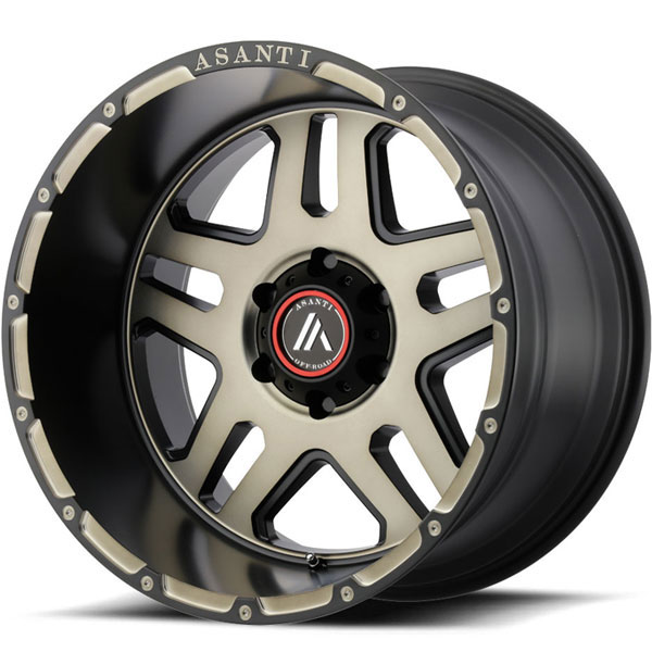 Asanti Off-Road AB-809 Matte Black Machined with Tinted Clear