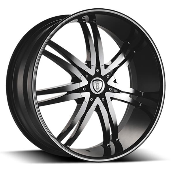 Borghini B14-M Black with Machined Face and Stripe