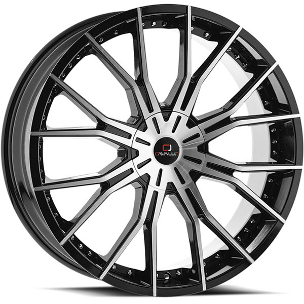 Cavallo CLV-36 Gloss Black Machined