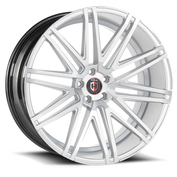 Curva Concepts C48 Silver with Machined Face