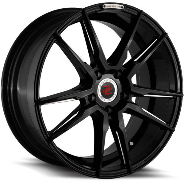 Drag Concepts R29 Gloss Black with Machined Tips
