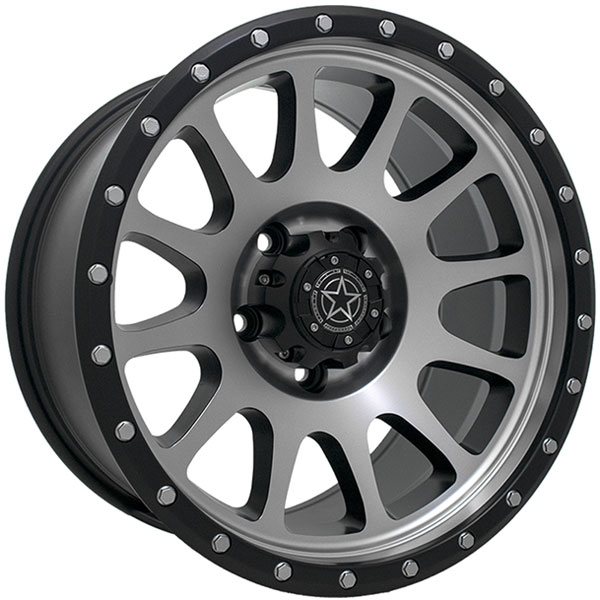 DWG Offroad DW10 Matte Black with Machined Face