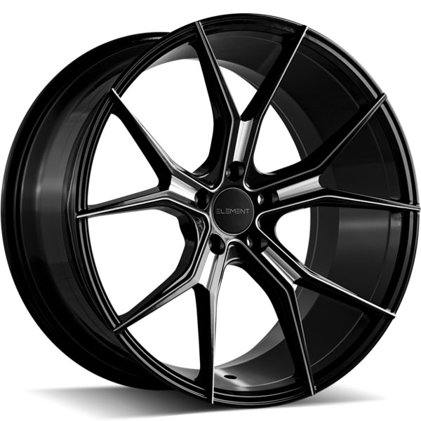 Element EL1125 Gloss Black with Milled Spokes