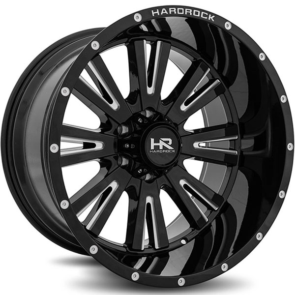 Hardrock Offroad H503 Spine Xposed Gloss Black with Milled Spokes