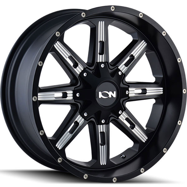 Ion Alloy 184 Satin Black with Milled Spokes