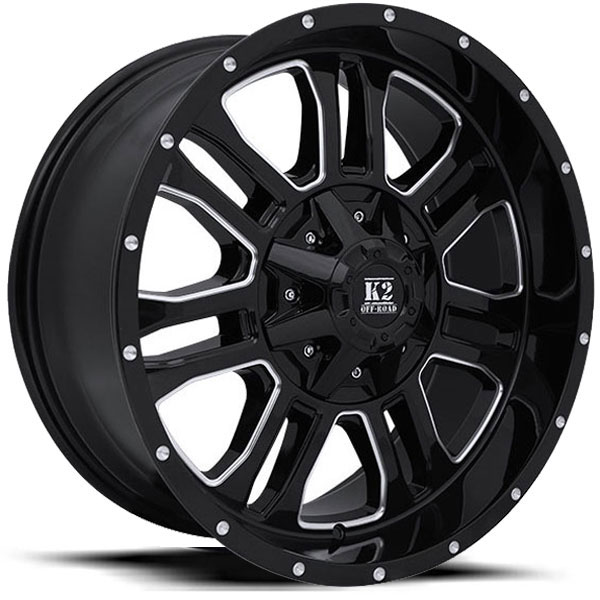 K2 OffRoad K02 Thor Gloss Black Machined