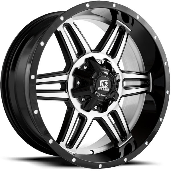 K2 OffRoad K06 Sphinx Gloss Black Machined