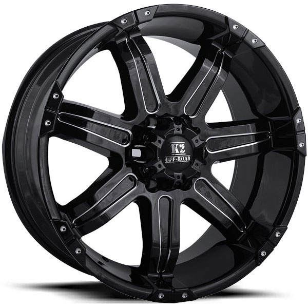 K2 OffRoad K07 Denali Gloss Black with Milled Spokes