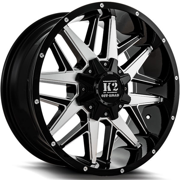 K2 OffRoad K15 Mayhem Gloss Black with Machined Milled Spokes