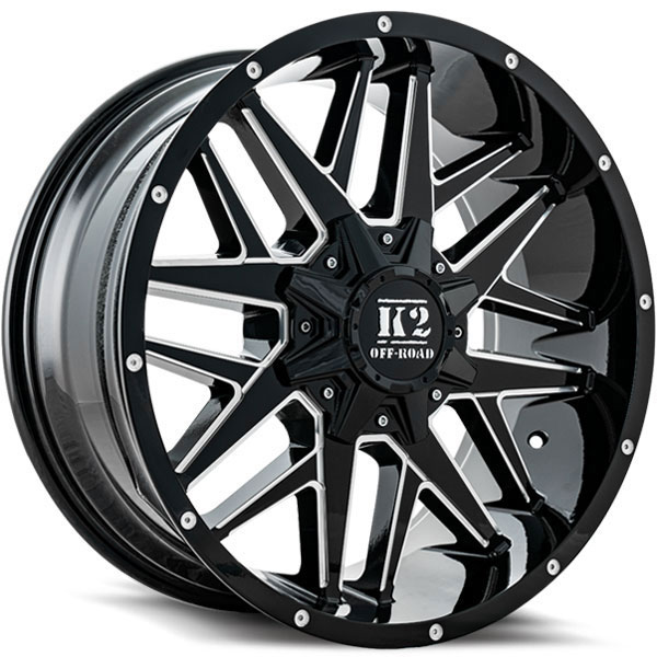 K2 OffRoad K15 Mayhem Gloss Black with Milled Spokes
