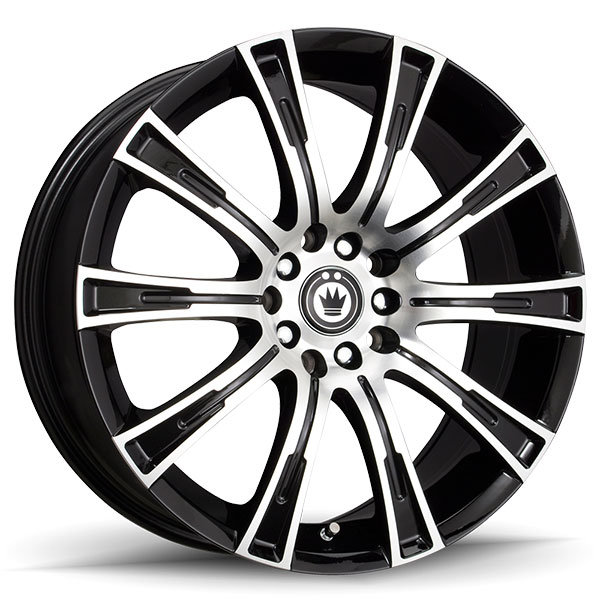 Konig Crown Gloss Black with Machined Face