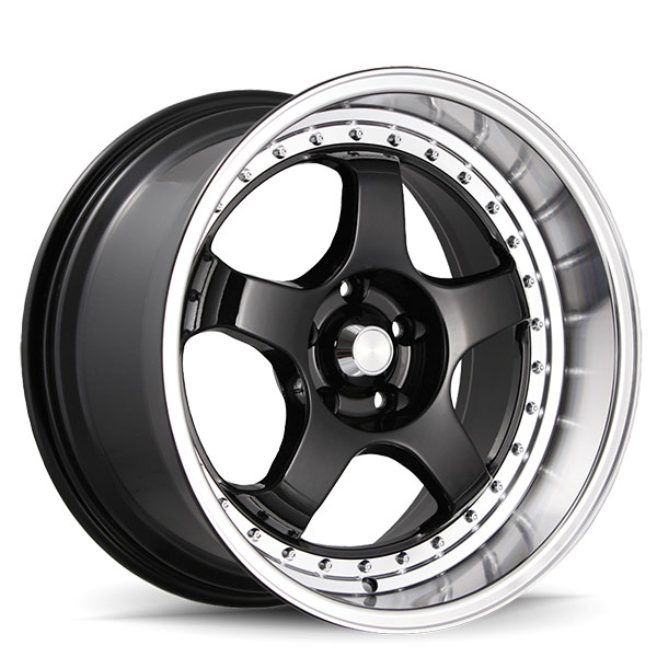 Konig SSM Gloss Black with Machined Lip