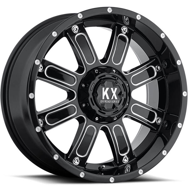 KX Offroad CP71 Gloss Black with Milled Spokes