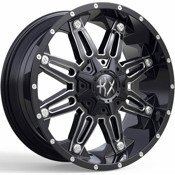 KX Offroad KX07 Gloss Black with Milled Spokes