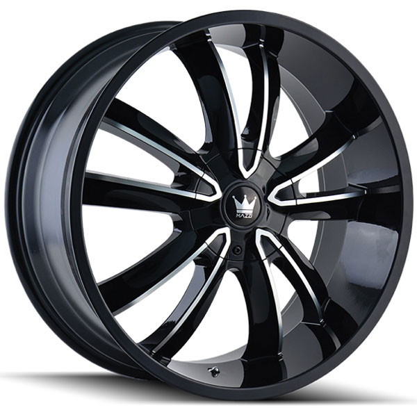Mazzi Obsession 366B Black with Machined Face
