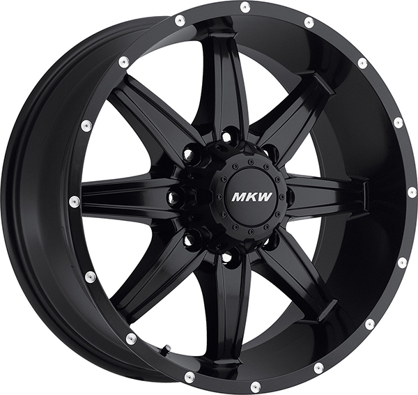 MKW M89 Satin Black 8 Lug