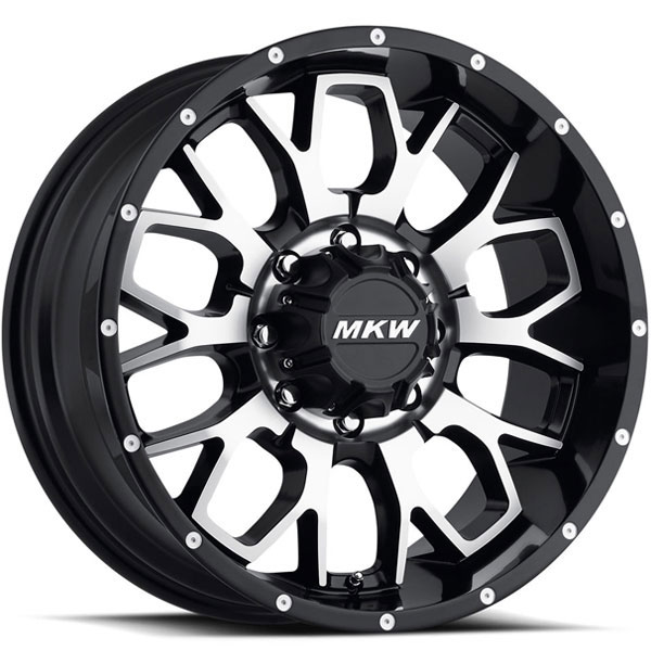 MKW M95 Satin Black with Machined Face 8 Lug