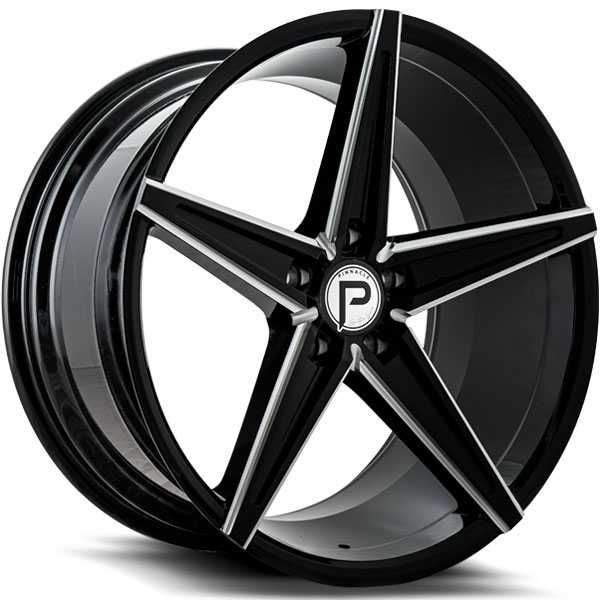Pinnacle P202 Supreme Gloss Black with Milled Spokes