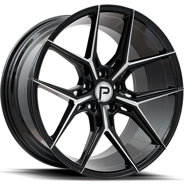 Pinnacle P204 Splendent Gloss Black with Milled Spokes