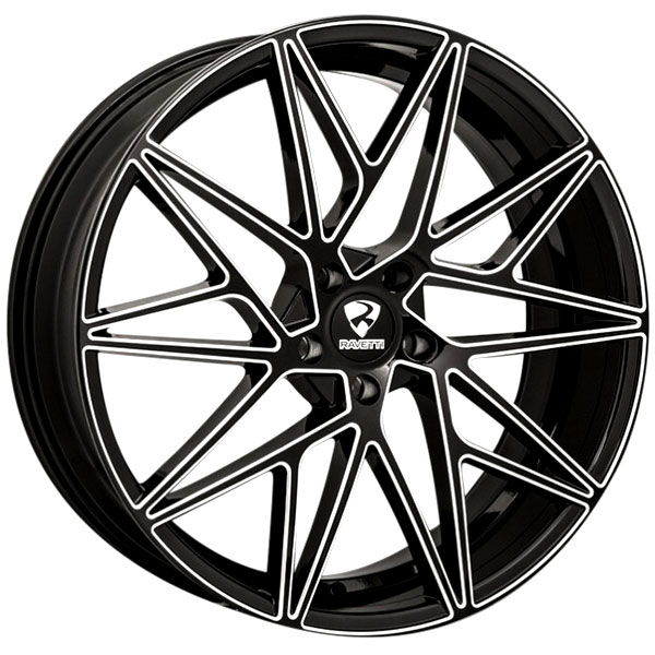 Ravetti M5 Black with Milled Spokes