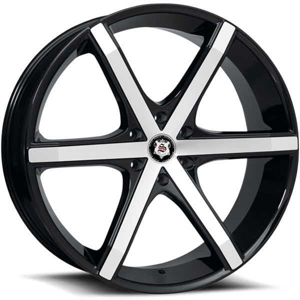 Sevizia SE-426 Black with Machined Face 6 Lug