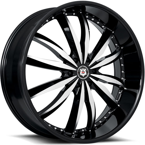 Sevizia SE-427 Black with Machined Face 6 Lug