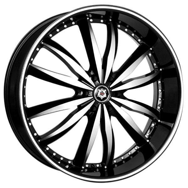 Sevizia SE-427 Black with Machined Face and Stripe 6 Lug