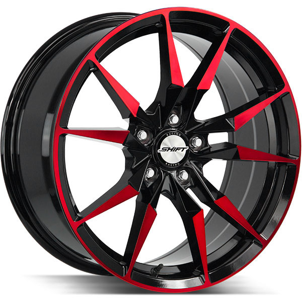 Shift Blade Gloss Black with Machined Red