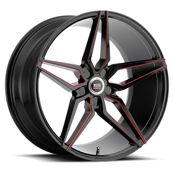 Spec-1 SPM-81 Gloss Black with Red Line
