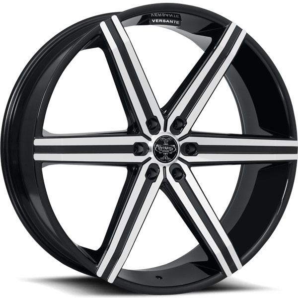 Versante 228 Black with Machined Face and Stripe 6 Lug