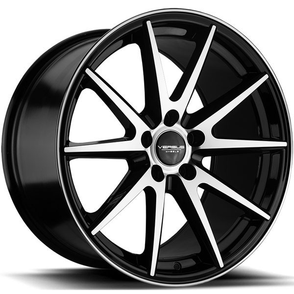 Versus VS73 Black with Machined Face
