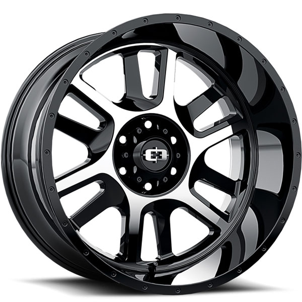 Vision 419 Split Gloss Black with Machined Face