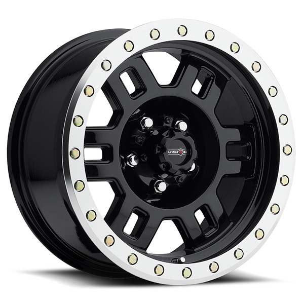 Vision Off-Road 398 Manx Gloss Black with Machined Lip