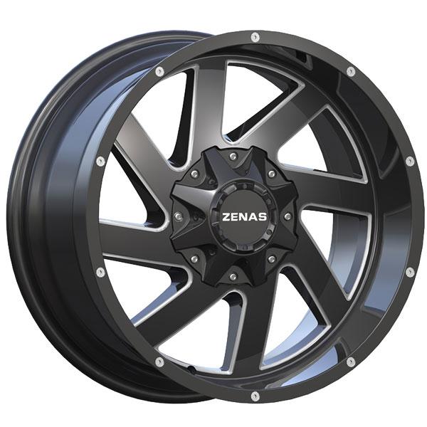 Zenas ZW12 Black with Milled Spokes